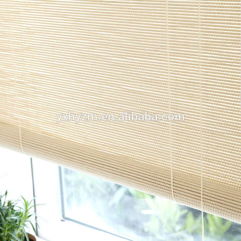 Natural Stick Bamboo Roll Up Curtains Environmental Friendly Customized Length